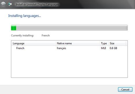 how to change language on windows vista business