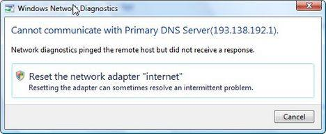 Windows Network Diagnostic