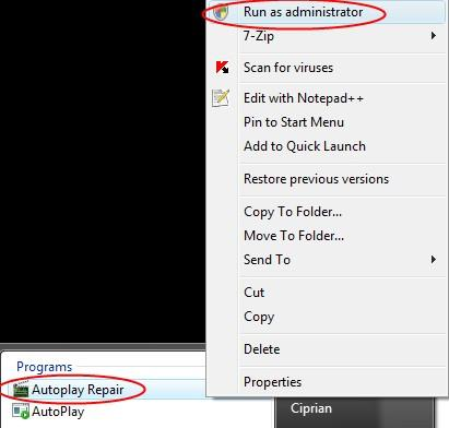 Autoplay Repair
