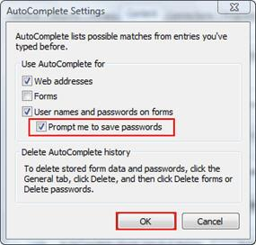 AutoComplete Passwords
