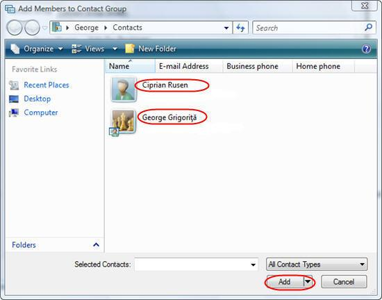 Windows Contacts