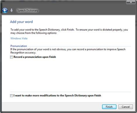 Windows Speech Recognition