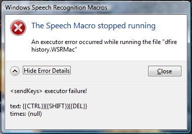 Windows Speech Recognition Macros