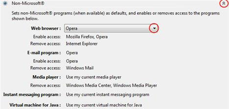 Program access and computer defaults