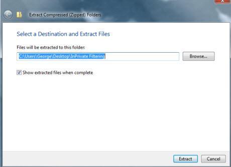 Internet Explorer 8 InPrivate Filtering