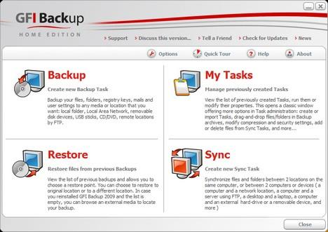 GFI Backup 2009 Home Edition
