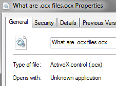What are .ocx files?