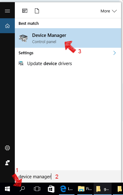 Device Manager in Windows 10
