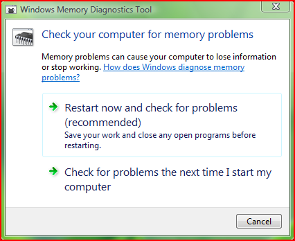 Windows Memory Diagnostics Tool