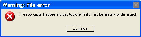 Acs 70.exe error